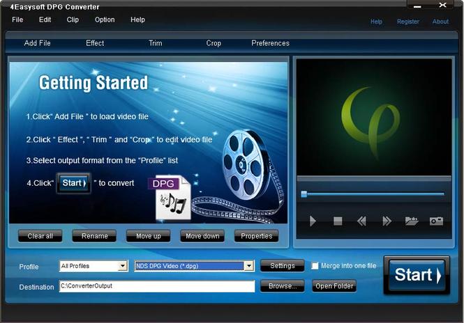 4Easysoft DPG Converter Screenshot