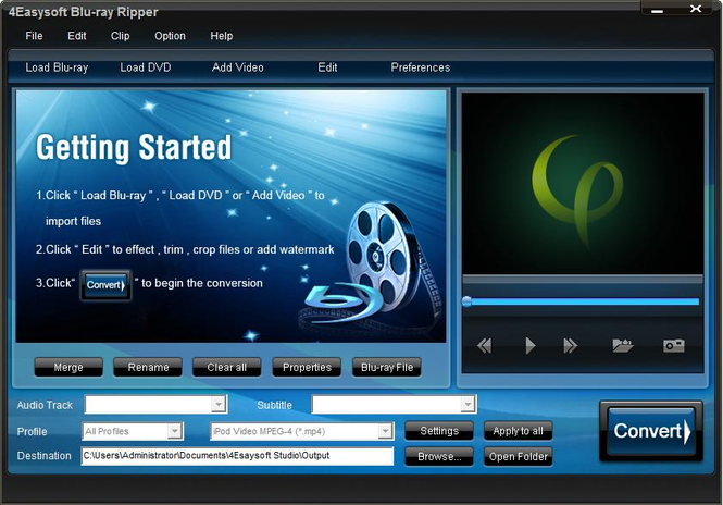 4Easysoft Blu Ray Ripper Screenshot