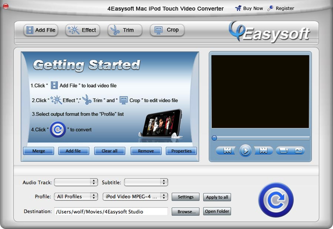 4Easysoft Mac iPod touch Video Converter Screenshot