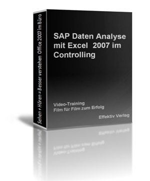 SAP Daten Analyse mit Excel 2007 im Controlling, Videotraining Screenshot 1