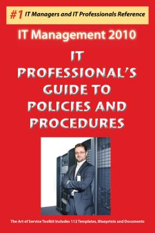 IT Professional's Guide to Policies and Procedures - Implement the policies and procedures you need Screenshot