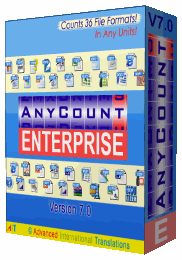 AnyCount 7.0 Standard - Corporate License (9 PCs) - Upgrade to Enterprise Screenshot 1