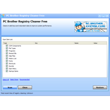 PC Brother Registry Cleaner Screenshot