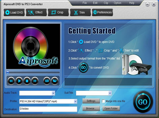 Aiprosoft DVD to PS3 Converter Screenshot 1
