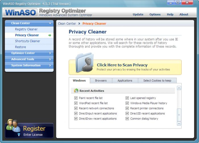 WinASO Registry Optimizer Screenshot 3