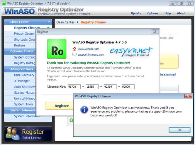 Winaso registry optimizer setup keygen free download.