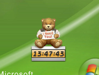 Desktop Pet Clock Screenshot