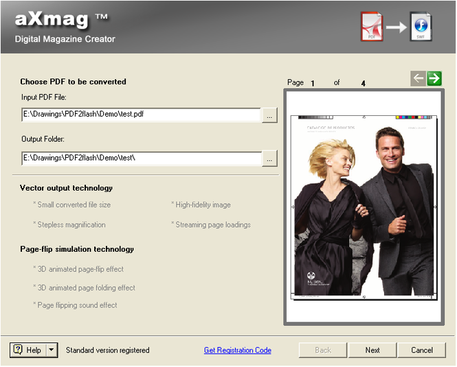 aXmag PDF to Flash Converter 2.4 Screenshot 1
