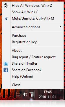 Hide My Windows Mini Screenshot