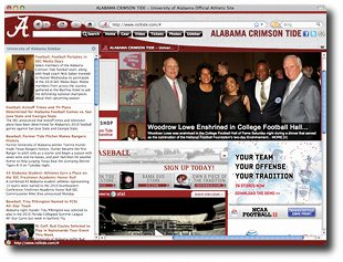 Alabama Crimson Tide IE Browser Theme Screenshot 1