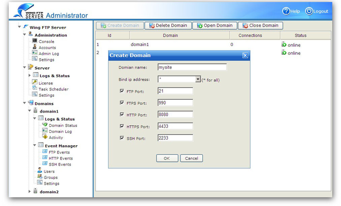 Wing FTP Server For Solaris(Sparc) Screenshot