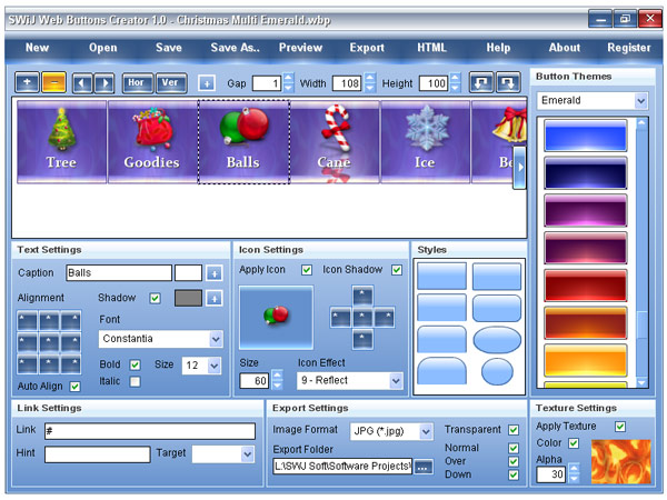 SWiJ Web Buttons Creator Screenshot 1