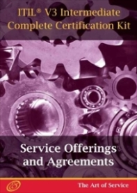 ITIL V3 Service Offerings and Agreements (SOA) Full Certification Online Learning and Study Book Cours