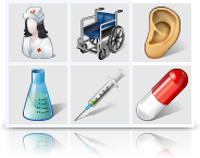 Vista Medical Icons (Pixel set) Screenshot