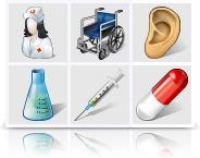 Vista Medical Icons (Vector set) Screenshot 1