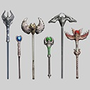 Fantasy RPG Staff Weapons 1