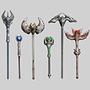 Fantasy RPG Staff Weapons 1