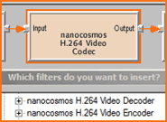nanocosmos AVC/H.264 Decoder Screenshot