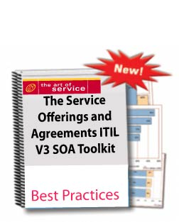 The Service Offerings and Agreements ITIL v3 SOA Toolkit Screenshot