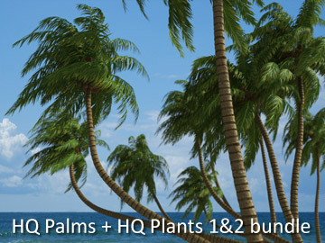 HQ Plants 1&2 + HQ Palms 1 bundle Screenshot