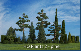HQ Plants 2 - pine trees Screenshot