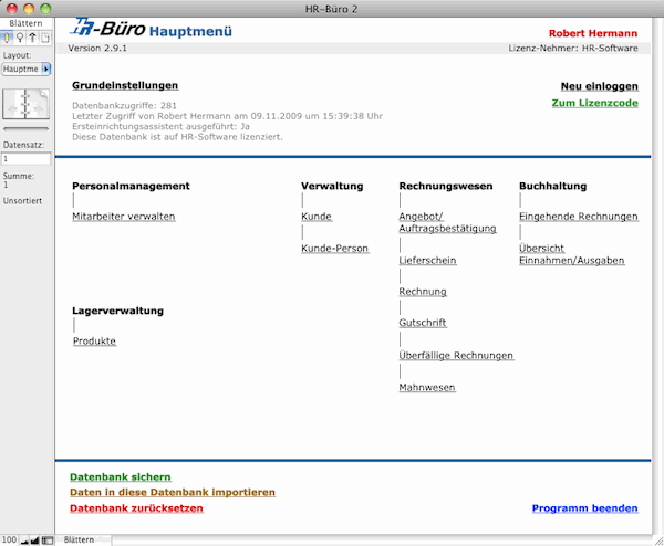 HR-Büro 2 Screenshot