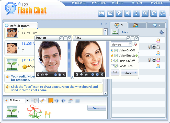 PHP Chat Module for123 Flash Chat Screenshot