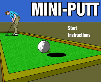 Mini Golf Game Screenshot