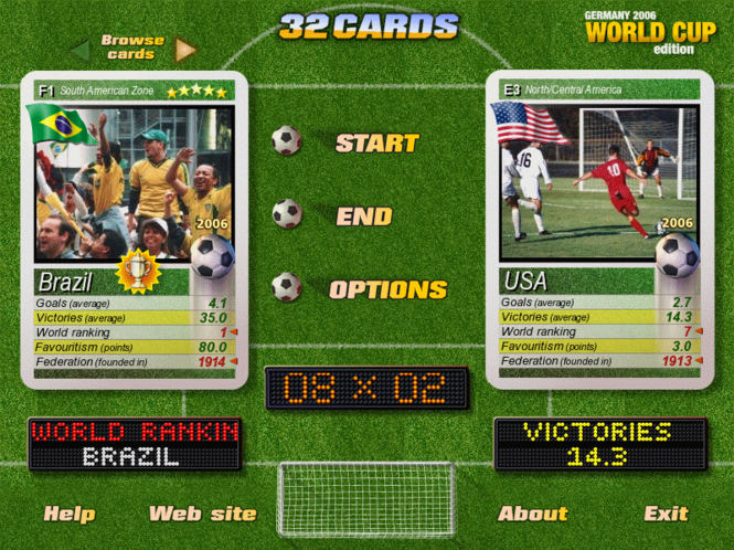 32 Cards World Cup Edition Screenshot 1