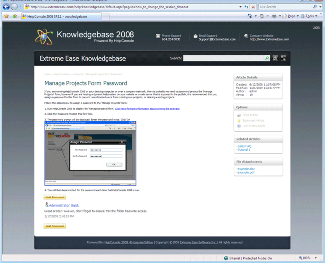 Knowledgebase 2008 Screenshot 1