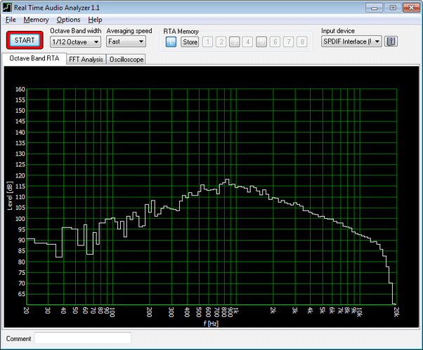 Real Time Audio Analyzer & Oscilloscope Screenshot