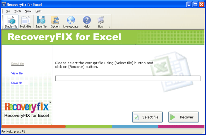 Excel Repair Screenshot