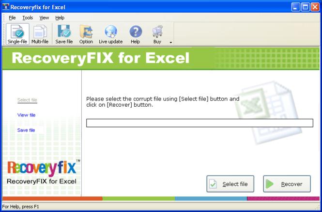Excel Repair Screenshot 1