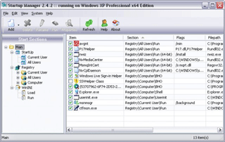 Free Security Soft: Startup Manager Screenshot