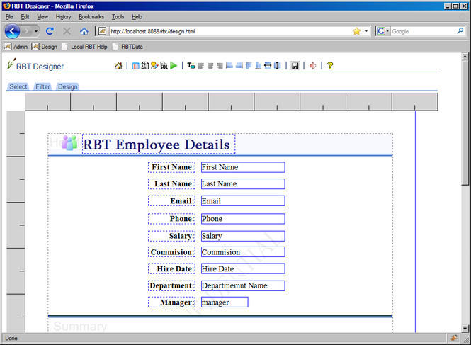 RBT Screenshot