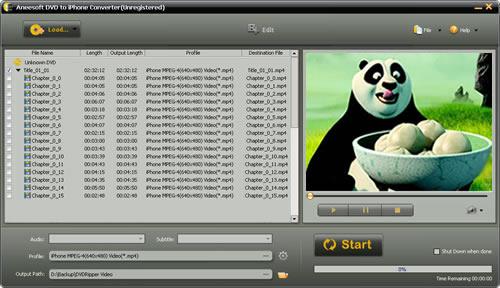 Aneesoft DVD to iPhone Converter Screenshot 1