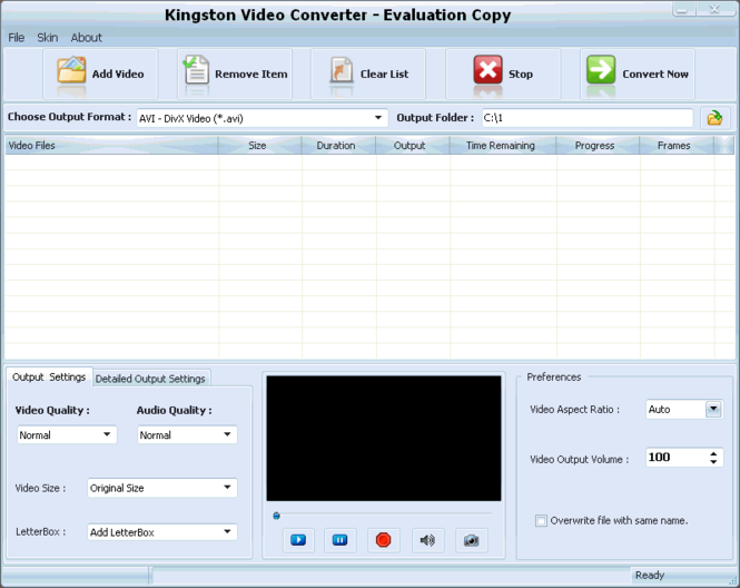 Kingston Video Converter Screenshot