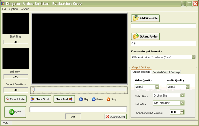 Kingston Video Splitter Screenshot