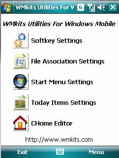 WMkits Utilities For Windows Mobile Screenshot 1