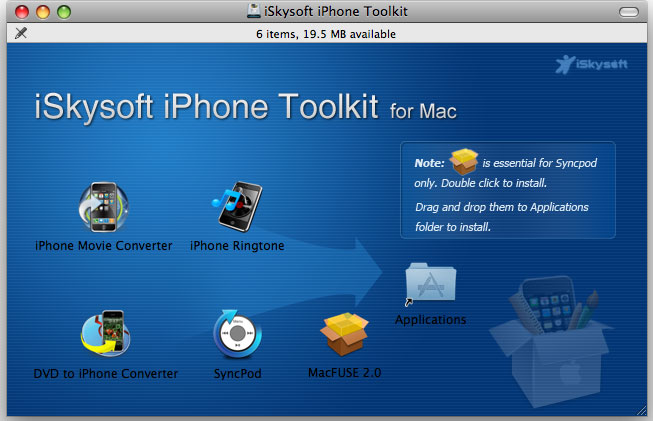 iSkysoft iPhone Toolkit for Mac Screenshot 1