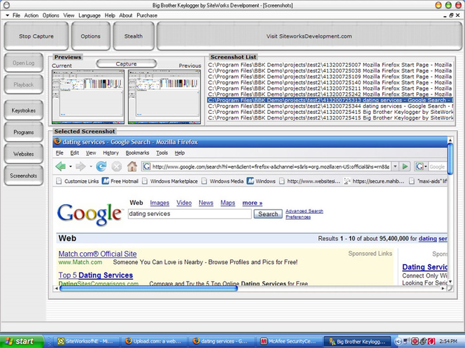 Big Brother Keylogger Screenshot 1
