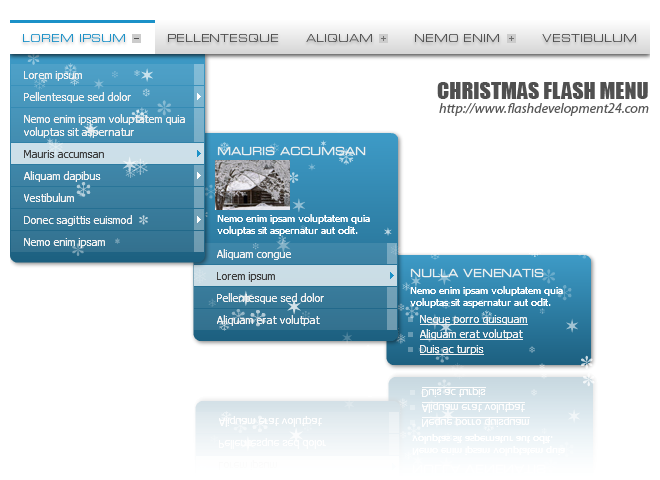 Christmas Flash Menu Screenshot 1