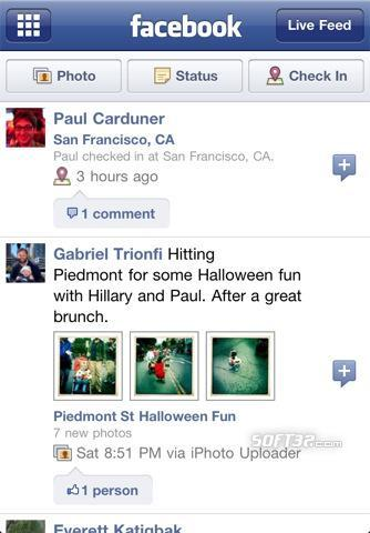 Facebook for iPhone Screenshot 2