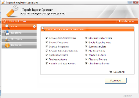 iTopsoft Register Optimizer Screenshot 1
