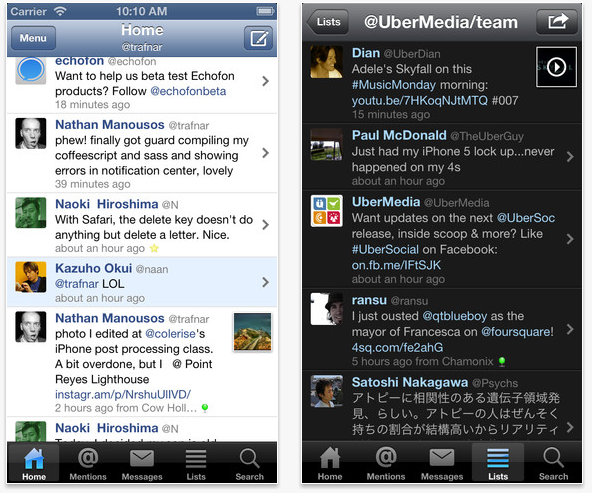 Echofon for Twitter Screenshot