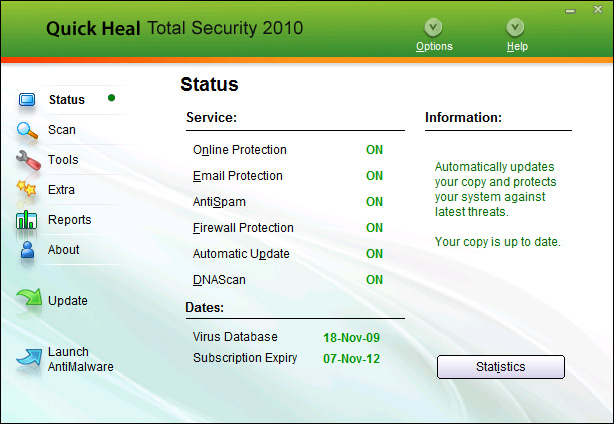 Quick Heal Total Security Screenshot