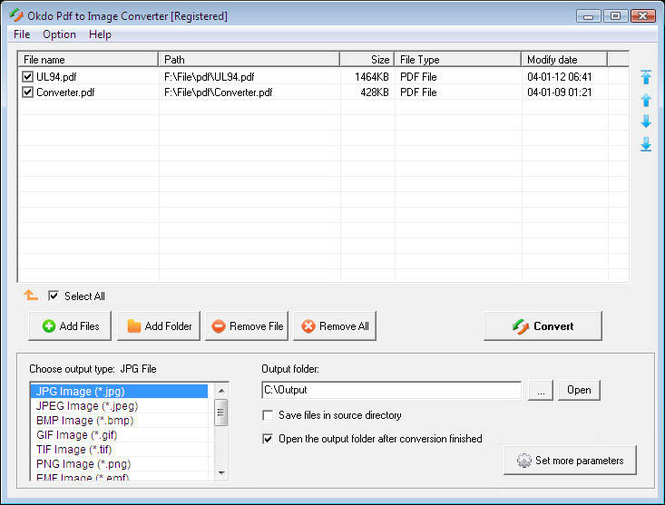 Okdo Pdf to Image Converter Screenshot 1