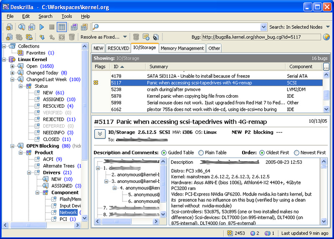 Deskzilla for Linux Screenshot