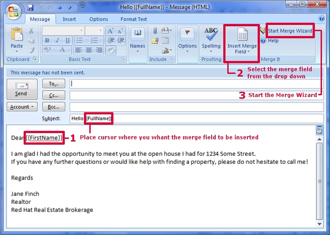 Merge It! add-in for Microsoft Outlook Screenshot 1