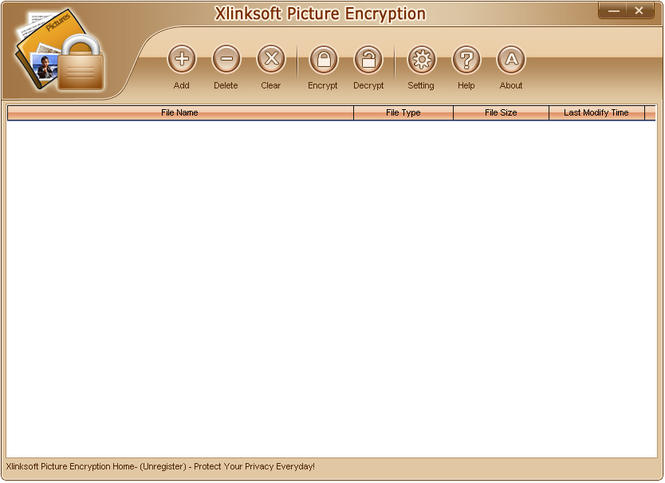 Xlinksoft Picture Encryption Screenshot